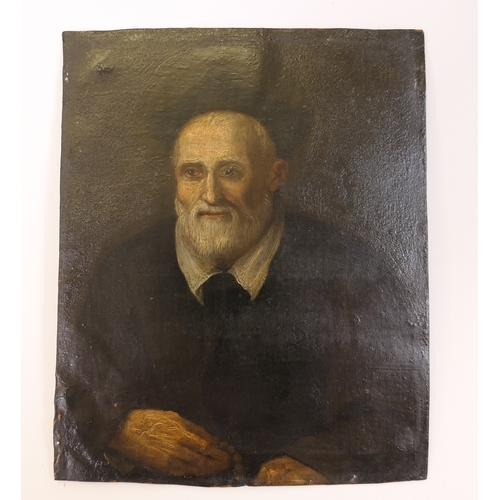 552 - Italian School (18th or 19th Century), Portrait of St. Philip Neri (1515-95), oil on copper, unframe...