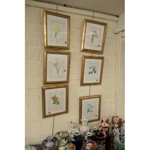 24 - Six gilt framed botanical prints...