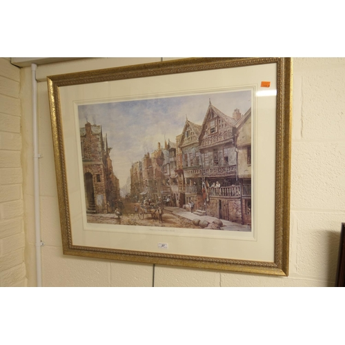 27 - Louise Rayner, limited edition, coloured print of Watergate Street, No. 386/850...
