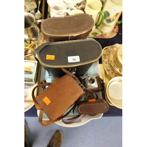 10 - Vintage Conway camera Popular model, cased, pair of Boot's 10x50 binoculars, cased, a pair of Jaynox...