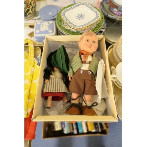 22 - M J Hummel doll of a Bavarian boy; also a Welsh souvenir doll...