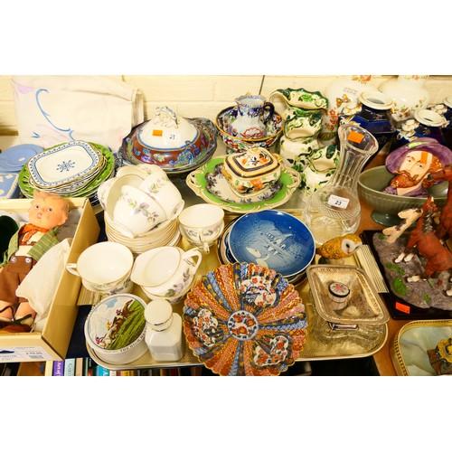 23 - CATALOGUE AMENDMENT and NEW IMAGE 06-01-20  Quantity of Victorian and later ceramics including Mason...