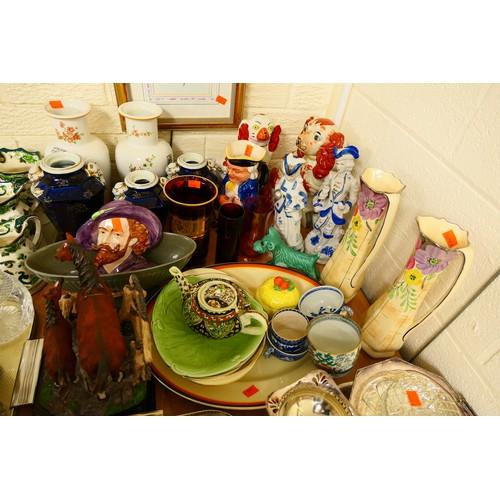 24A - CATALOGUE AMENDMENT 06-01-20 - Quantity of Victorian and later ceramics including blue glazed ironst...