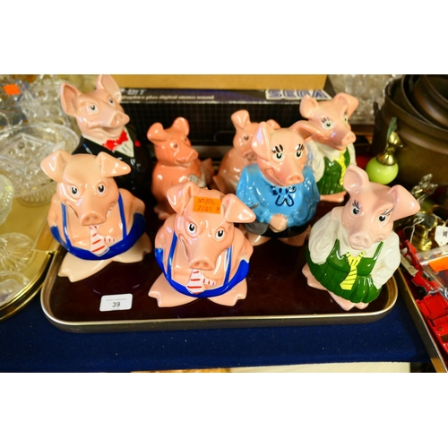 39 - Collection of Wade NatWest piggy banks (8)...