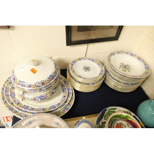 1 - Bridewood dinner service including tureens and meat plates...