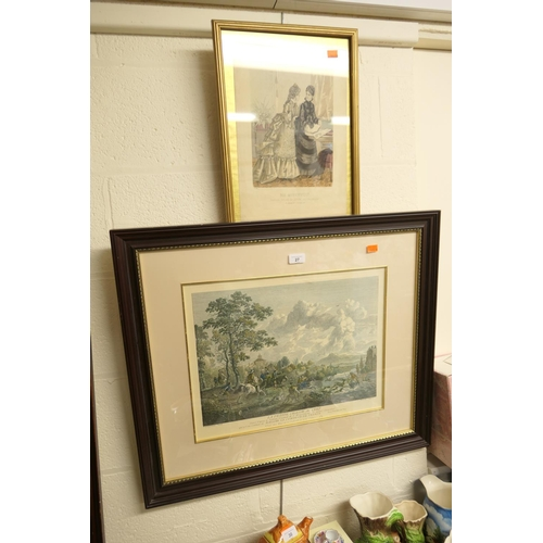 27 - Framed Wouvermen print and a gilt framed fashion print (2)...