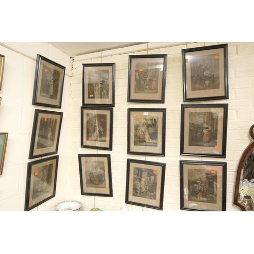 5 - Twelve framed engravings