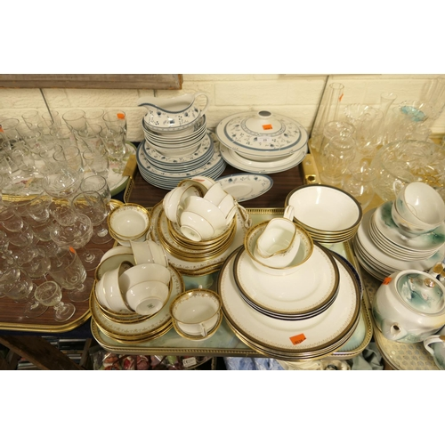 29 - Royal Doulton Cambridge pattern dinner service, ref. T1017; also an Aynsley dinner service and a par...