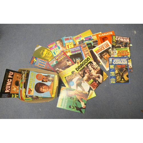 41 - Kung Fu magazine series featuring Bruce Lee; also a small amount of Conan the Barbarian magazines...
