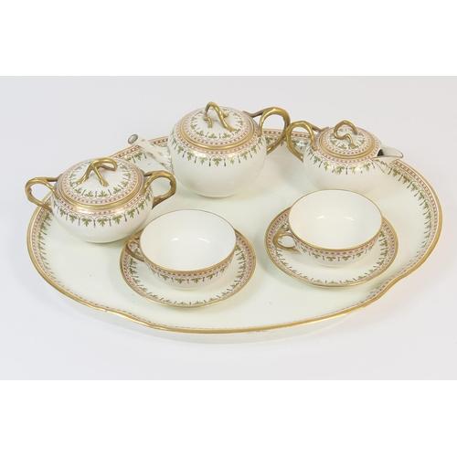 44 - Wedgwood china cabaret set, circa 1900-10, comprising lidded teapot, lidded sucrier, lidded milk jug...