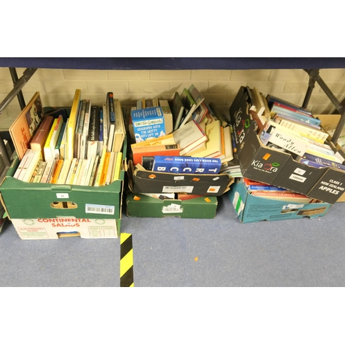20 - Six boxes of mainly modern books including cookery...