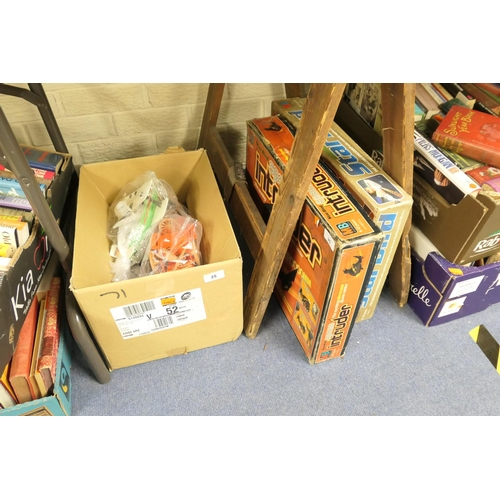 25 - Two vintage Starbird toys including Space Intruder, also a box of Play People and accessories (3)...