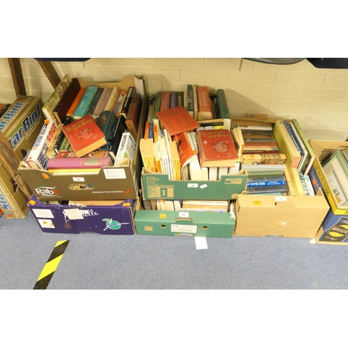 29 - Five boxes of mainly modern books, also two Sunlight Year books 1897 and 1899, and F A Pouchet's 'Th...