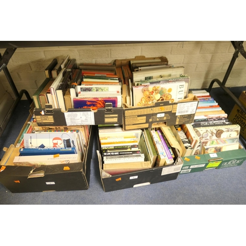 9 - Five boxes of modern books...