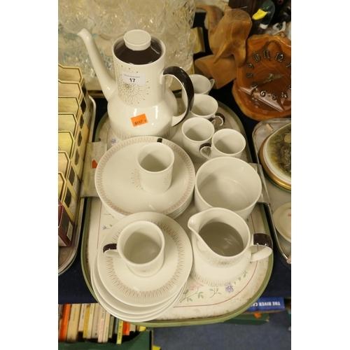 17 - Royal Doulton Morning Star pattern coffee service...