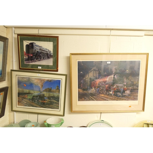 35 - Terence Cuneo signed limited edition print 'Duchess of Hamilton', 607/850, also Mike Robertson signe...