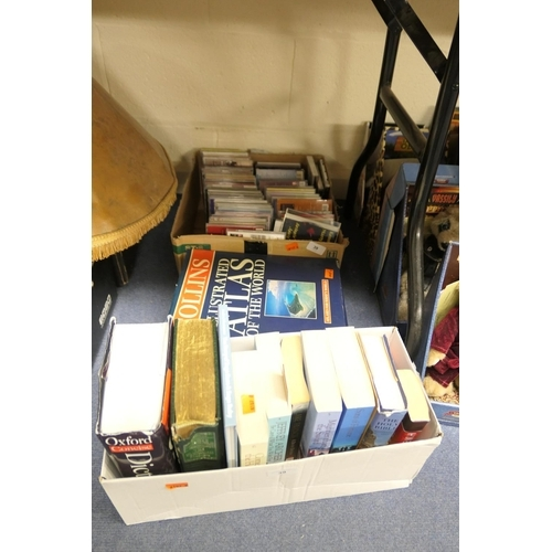 39 - Small quantity of CDs and modern books (2 boxes)...