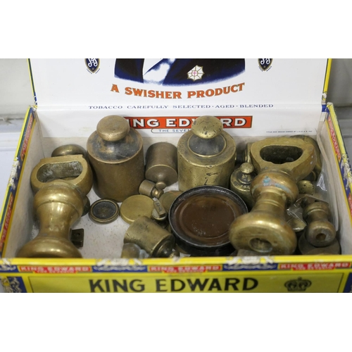 299 - Number of brass pork pie and bell weights...