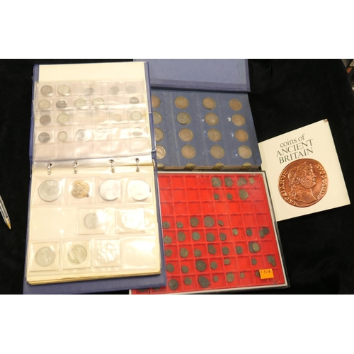 530 - Mixed coins and medallions including some pre-1947 silver including half crowns, shillings, alloy co...