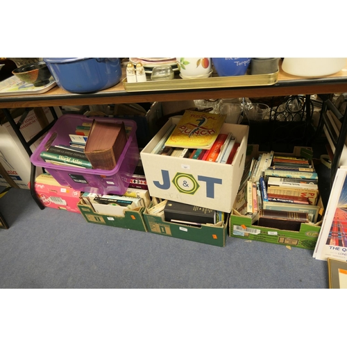 101 - Assorted books including Punch 1951 Festival Guide and other mixed hardback books (6 boxes)...