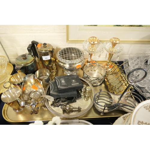 11 - Mixed silver plated wares...