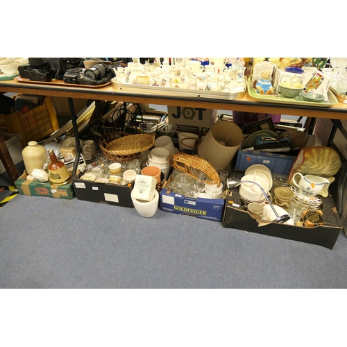 112 - Mixed household ceramics, glassware and general miscellany (5 boxes)...