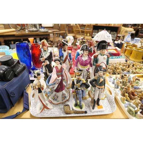 126 - Collection of Napoleonic themed porcelain figures; also Japanese style figures (10)...