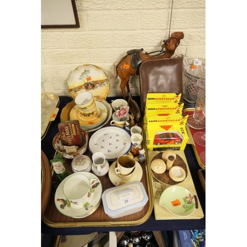 20 - Royal Doulton Coaching series china tea wares, Carlton ware mushroom condiment, Maisto model cars, v...