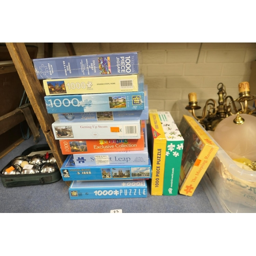 23 - 1000 piece jigsaw puzzles (all unopened)...