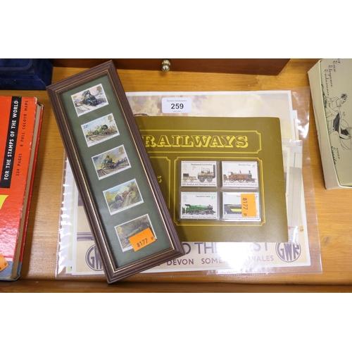 259 - Railways ephemera including picture postcards, stamps etc...