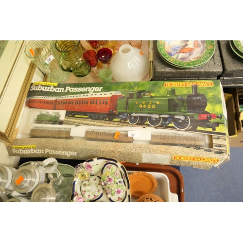27 - Hornby suburban passenger train set (R724), boxed...