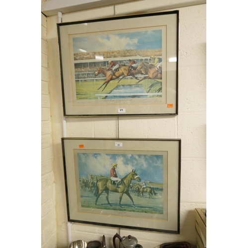 29 - Neil Cawthorne, signed limited edition Red Rum prints (2)...
