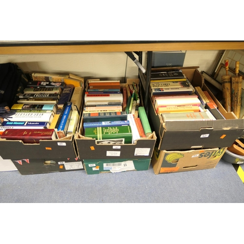 42 - Assorted modern hardback books including political history biographies, nature etc (6 boxes)...