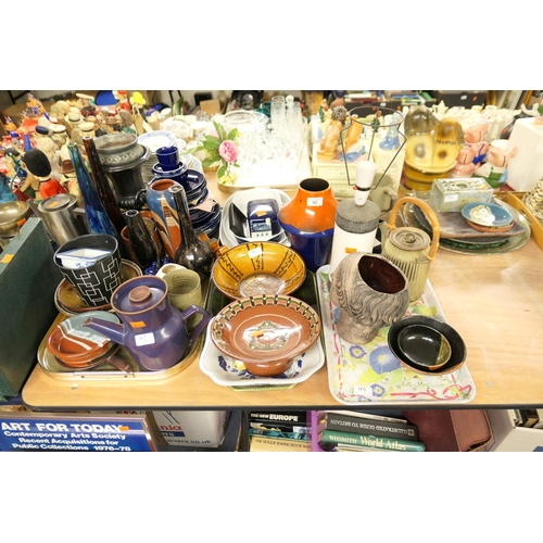 95 - Mixed Art Pottery and other ceramics (3 trays)...