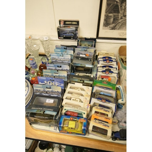 37 - Corgi showcase collection diecast models; also Definitive Bond Collection 'A View to a Kill' Renault...
