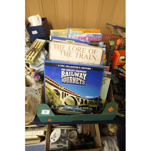 75 - Mixed hardback books on railways and steam...
