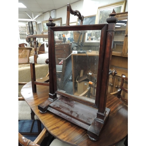 626 - Victorian mahogany dressing table mirror...