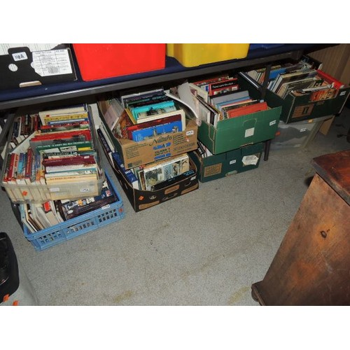 119A - 8 boxes of modern mixed genre books...
