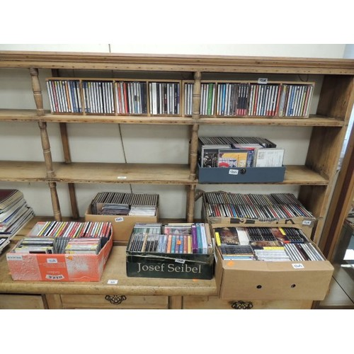 120A - Large selection of music CDs mainly classical also a small amount of cassettes (8 boxes)...