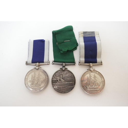 579 - Queen Victoria Royal Naval long service and good conduct medal, awarded to A Noble, Sergt, No.775, P...