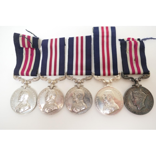 580 - Five Military medals comprising four George V awarded to 28778 Cpl. N. Walton, 13/Durh L.I.; 23183 C...