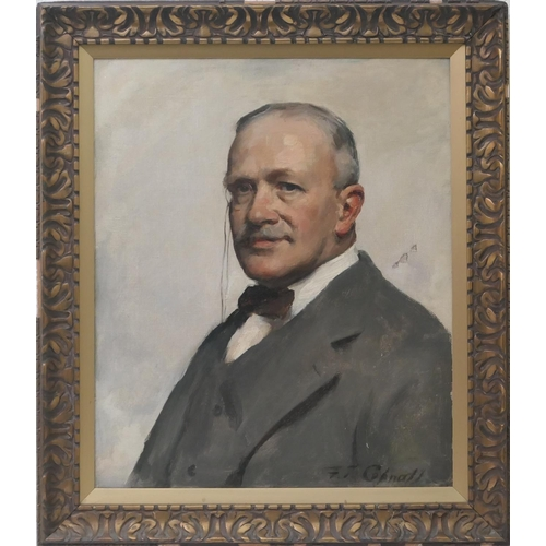 540 - Frank Thomas Copnall (1870-1949), Portrait of a gentleman sporting a monocle, quarter length, signed...