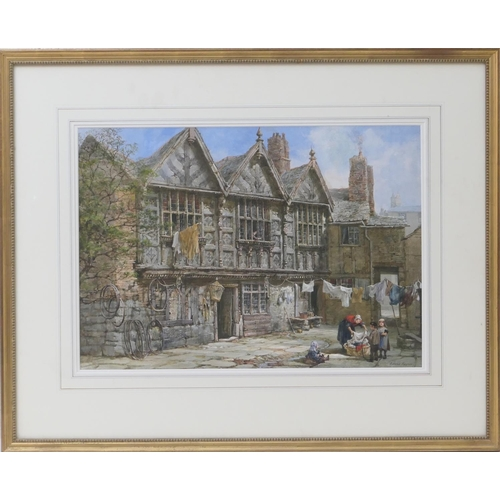 541 - Louise J Rayner (1832-1924), Stanley Palace at the junction of Watergate and Nicholas street, waterc...