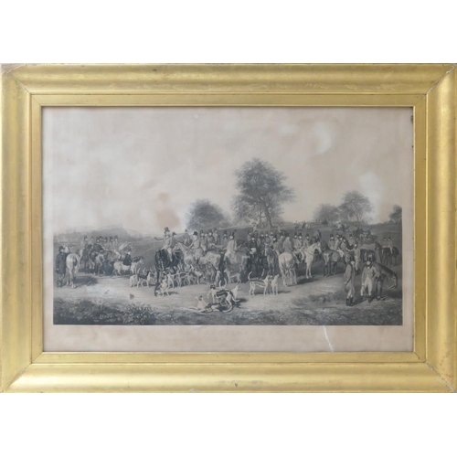 542 - After Henry Calvert (1798-1869), The Cheshire Hunt, an engraving by Charles G Lewis, published in 18...