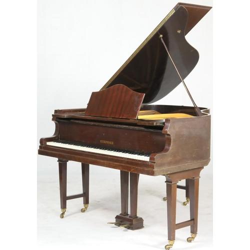 798 - Sterndale mahogany cased baby grand piano, width 137cm, length 150cm