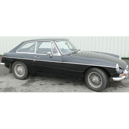 800 - MGB GT Coupe, registration number VYO 985G (first registered 1969).  Finished in black with chrome t...