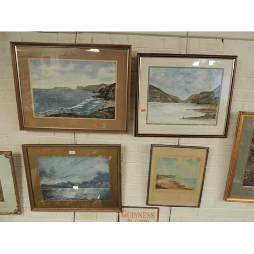 12 - Robert Jackson 'Dusk at West Kirby', watercolour, 'Trefor Edey', 'Welsh Llyn', watercolour, signed, ...