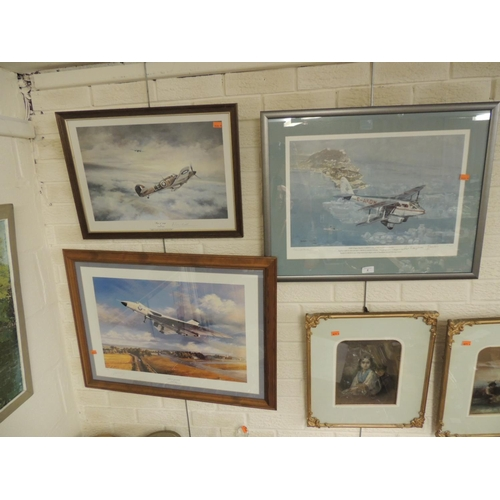 2 - Three limited edition aircraft prints including a 'Vulcan Thunder' by Nicholas Trudtian, a 'Dragon R...