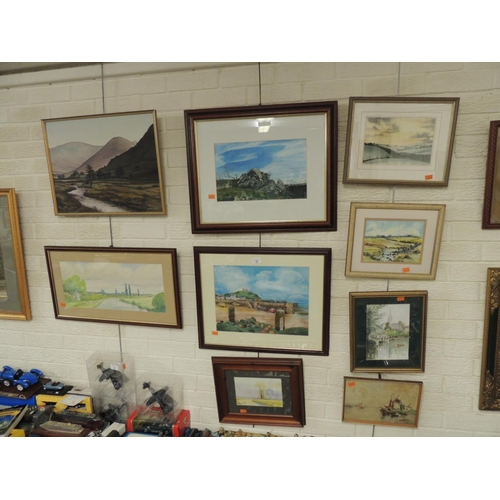 22 - C. Harmer (?), pastel drawing of a harbour at low tide, signed, a Jean Fewtrell, gouache 'Middlewort...
