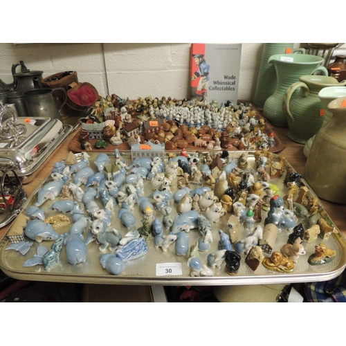 30 - Mixed Wade Whimsical collectables and a small quantity of Wade Whimsie-On-Why houses; also a book of...